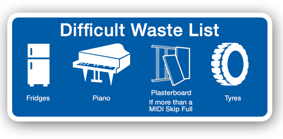 difficult waste list